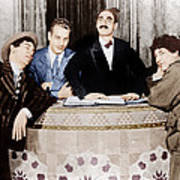 The Cocoanuts, From Left Chico Marx Print by Everett
