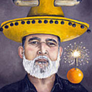 The Competitive Sombrero Couple 2 Print by Leah Saulnier The Painting Maniac
