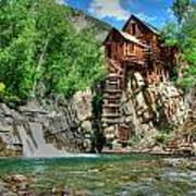 The Crystal Mill 1 Print by Ken Smith