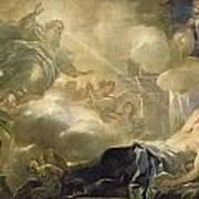 The Dream Of Solomon Print by Luca Giordano