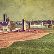 The Farm In Lancaster Print by Kathy Jennings