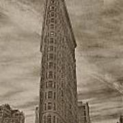 The Flat Iron Building Print by Kathy Jennings