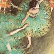 The Green Dancer Print by Edgar Degas