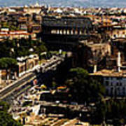 The Historic Centre Of Rome Print by Fabrizio Troiani