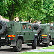 The Iveco Lmv Of The Belgian Army Print by Luc De Jaeger
