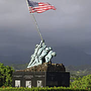 The Iwo Jima Statue Print by Michael Wood