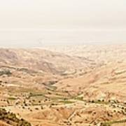 The Jordan Valley, Jordan Print by Jim Foley