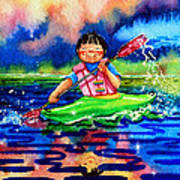 The Kayak Racer 11 Print by Hanne Lore Koehler