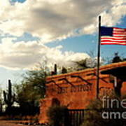 The Last Outpost Old Tuscon Arizona Print by Susanne Van Hulst