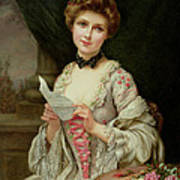 The Love Letter Print by Francois Martin-Kayel