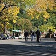 The Mall In Central Park Print by Rob Hans