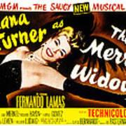 The Merry Widow, Lana Turner, 1952 Print by Everett