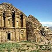 The Monastery Ad Dayr At Petra Print by Sami Sarkis