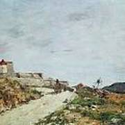 The Road To The Citadel At Villefranche Print by Eugene Louis Boudin