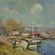 The Seine At Port-marly Print by Alfred Sisley
