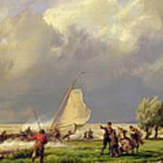 The Shipwreck Print by Hermanus Koekkoek