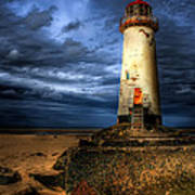 The Talacre Lighthouse Print by Adrian Evans