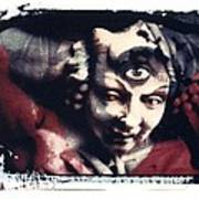 The Third Eye Polaroid Transfer Print by Jane Linders