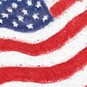 The United States Flag Print by Heidi Smith
