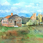 The Vacant Schoolhouse Print by Arline Wagner