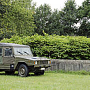 The Vw Iltis Jeep Used By The Belgian Print by Luc De Jaeger