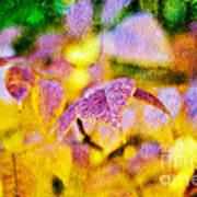 The Warmth Of Autumn Glow Abstract Print by Andee Design