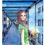 The Winchester Mystery House Print by Katchakul Kaewkate