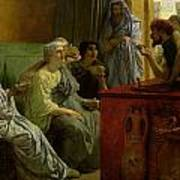 The Wine Shop Print by Sir Lawrence Alma-Tadema