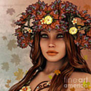They Call Her Autumn Print by Jutta Maria Pusl