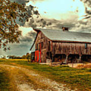 This Old Barn Print by Bill Tiepelman