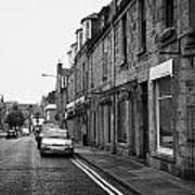 Thistle Street Rows Of Granite Houses And Shops Aberdeen Scotland Uk Print by Joe Fox