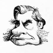 Thomas Huxley, Caricature Print by Gary Brown