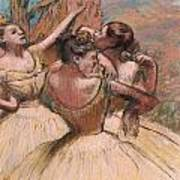 Three Dancers Print by Edgar Degas