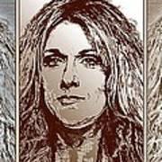 Three Interpretations Of Celine Dion Print by J McCombie