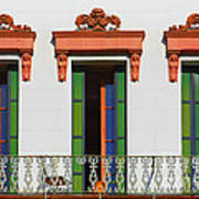 Three Of A Kind - The Windows In Old Sacramento Print by Christine Till