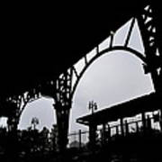 Tiger Stadium Silhouette Print by Michelle Calkins