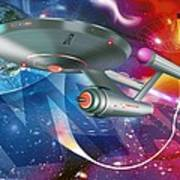 Time Travelling Spacecraft, Artwork Print by Detlev Van Ravenswaay