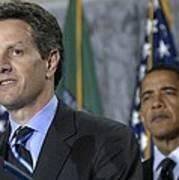 Timothy Geithner Speaks Print by Everett