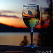 Toasting A Beautiful Evening Print by Patrick Witz