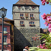 Tower In Old Town Rottweil Germany Print by Matthias Hauser