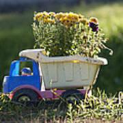 Toy Truck Planter Print by Gordon Wood