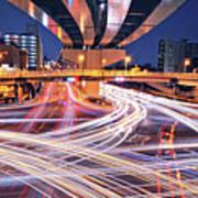 Traffic Trails Print by Y2-hiro