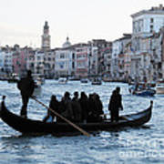 Traghetto . Gran Canal. Venice Print by Bernard Jaubert