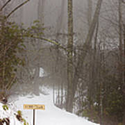 Trailhead Covered With Snow Print by Will and Deni McIntyre