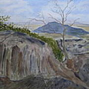 Trails End - Rocks Trees And Sky Print by Joel Deutsch