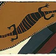 Traveling Goanna Print by Pat Saunders-White