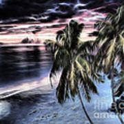 Tropical Evening Print by Cheryl Young