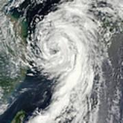 Tropical Storm Dianmu Print by Stocktrek Images