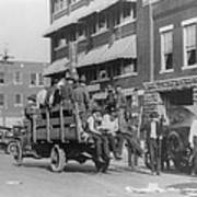Truck On Street Near Tulsa, Oklahomas Print by Everett
