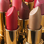 Tubes Of Lipstick Print by Garry Gay